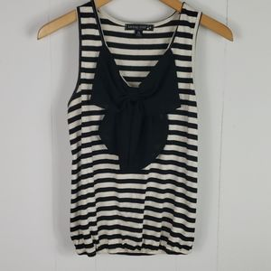 ❄ Living Doll : Large Bow Striped Tank